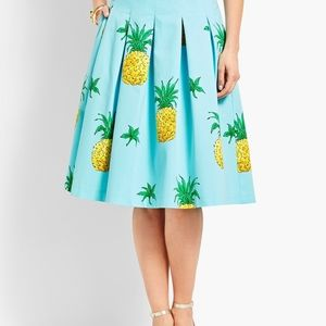 NEW RSVP Talbots blue pineapple full skirt 18W